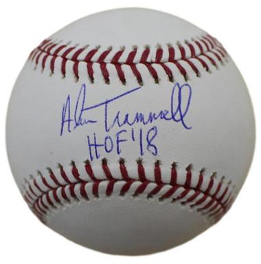 "Alan Trammell Autographed Baseball with ""HOF"" Inscription"