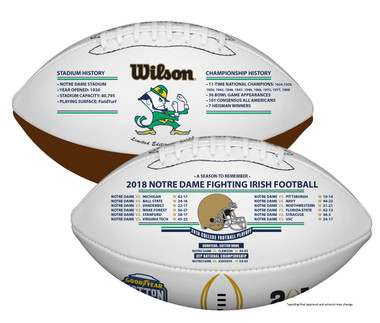 Notre Dame 2018-19 CFP Commemorative Football
