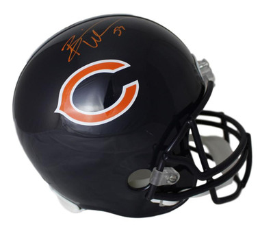 Brian Urlacher Autographed Chicago Bears Replica Helmet JSA Certificate of Authenticity