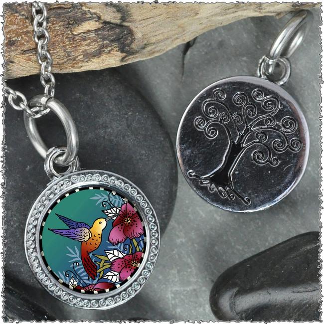 """Hummingbird """"Tree"""" Pendant"""