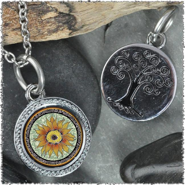 "Sunflower Green ""Tree"" Pendant"