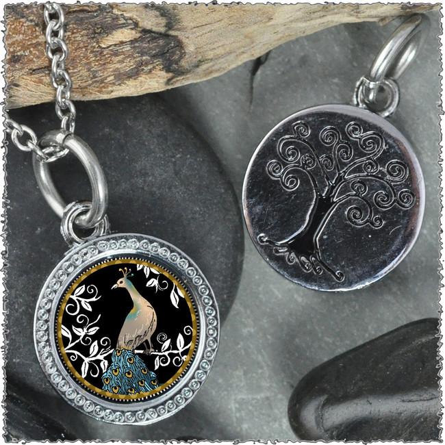 "Peacock Black ""Tree"" Pendant"