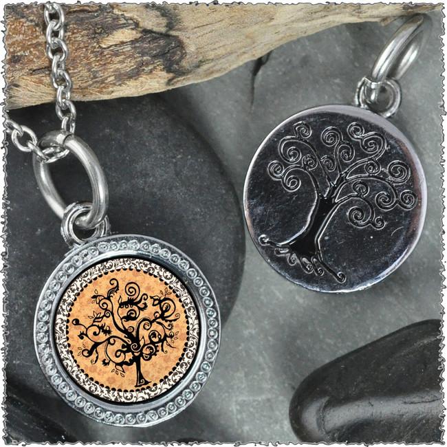 """Vintage Tree of Life Orange """"Tree"""" Pendant"""