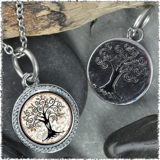 "Tree of Life Gray ""Tree"" Pendant"