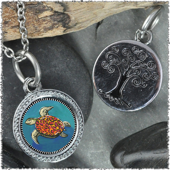 "Blue Turtle ""Tree"" Pendant"