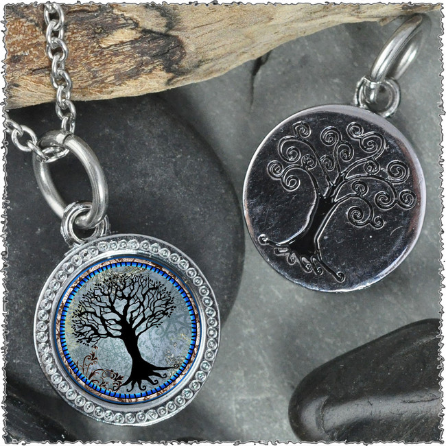 "Tree of Life Dark Blue ""Tree"" Pendant"