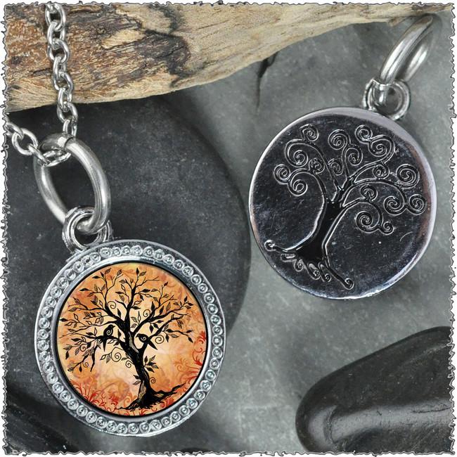 "Tree of Life Orange ""Tree"" Pendant"