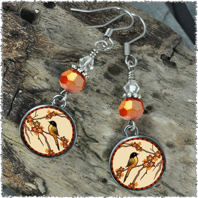 Robin Crystal Circular Earrings