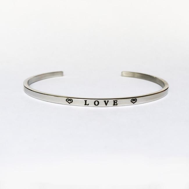 """LOVE"" Stainless Steel Cuff Bracelet"