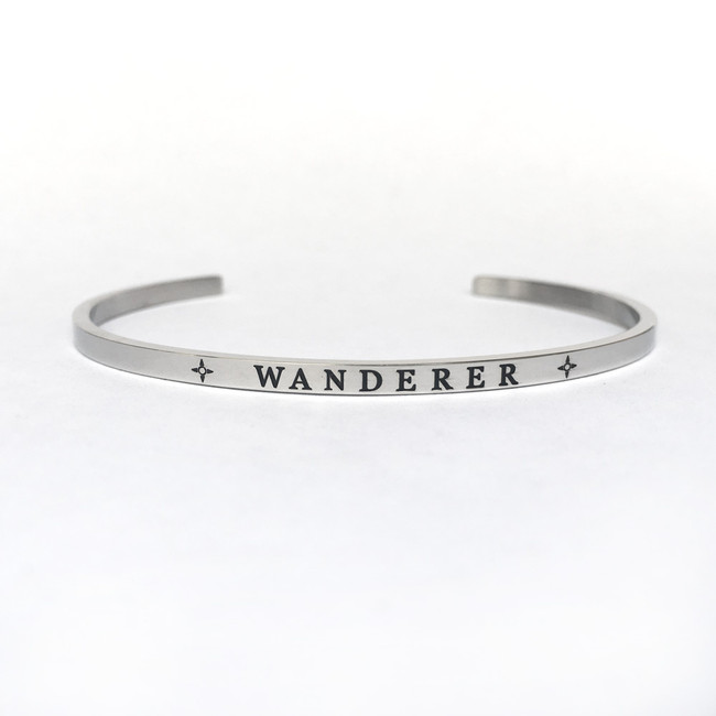 """""""WANDERER"""" Stainless Steel Cuff Bracelet"""