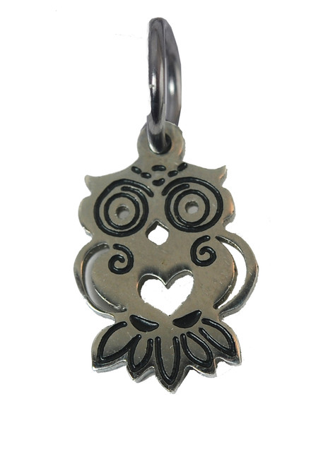 Owl Stainless Steel Charm