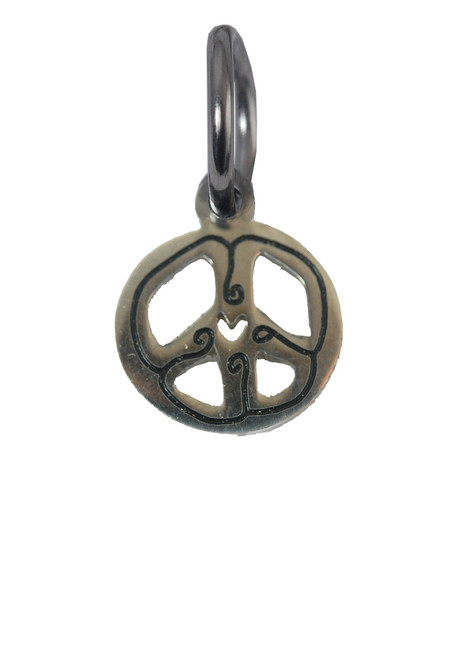 Peace Sign Stainless Steel Charm