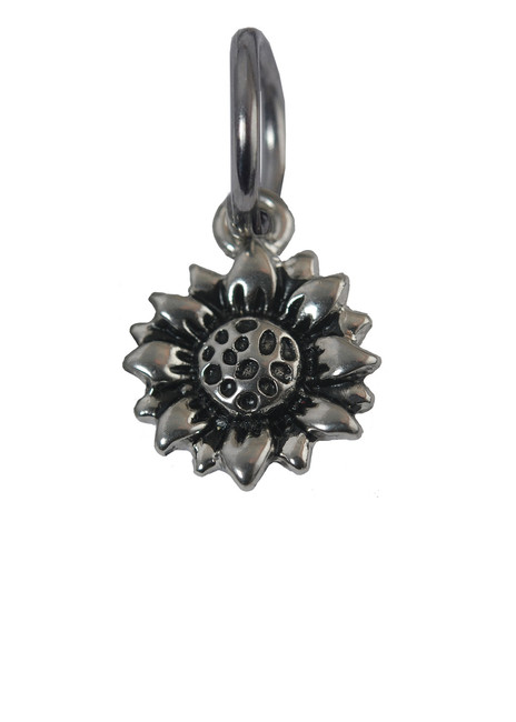 Sunflower Stainless Steel Charm
