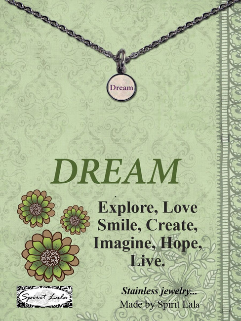 Carded Dream Small Circle Necklace