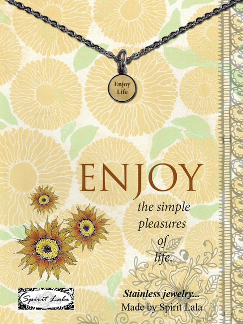 Carded Enjoy Life Small Circle Necklace