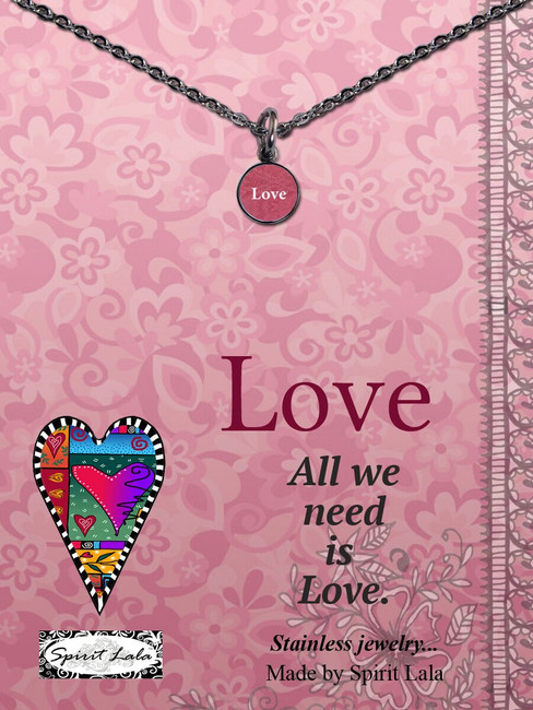 Carded Love Small Circle Necklace