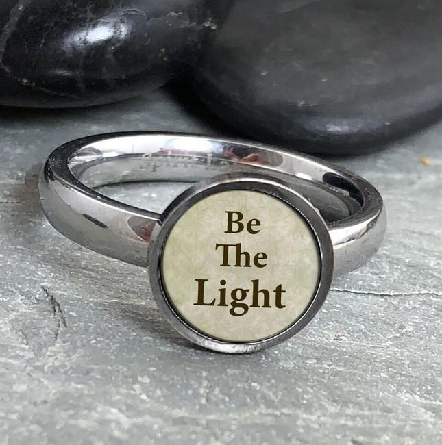 Be the Light Stainless Art Ring