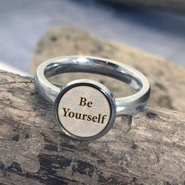 Be Yourself Stainless Art Ring