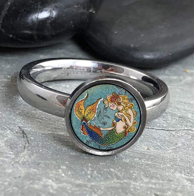 Mermaid Stainless Art Ring