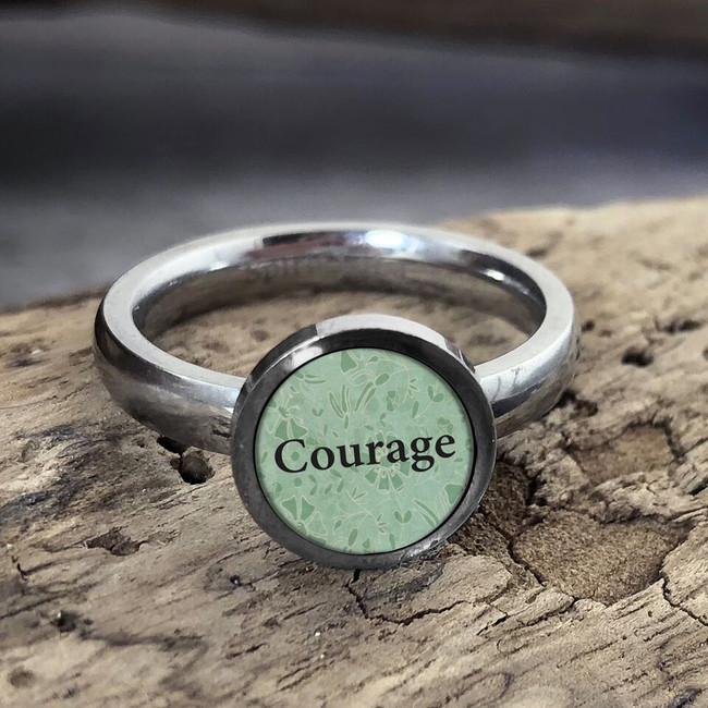 Courage Stainless Art Ring