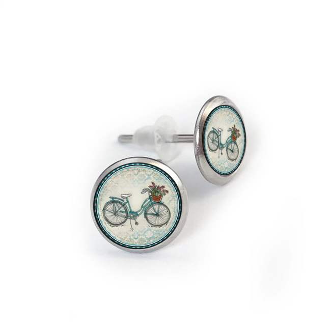 Beach Bike Stainless Stud Earring