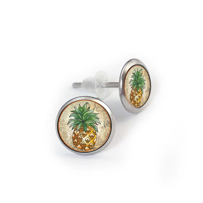 Pineapple Stainless Stud Earring