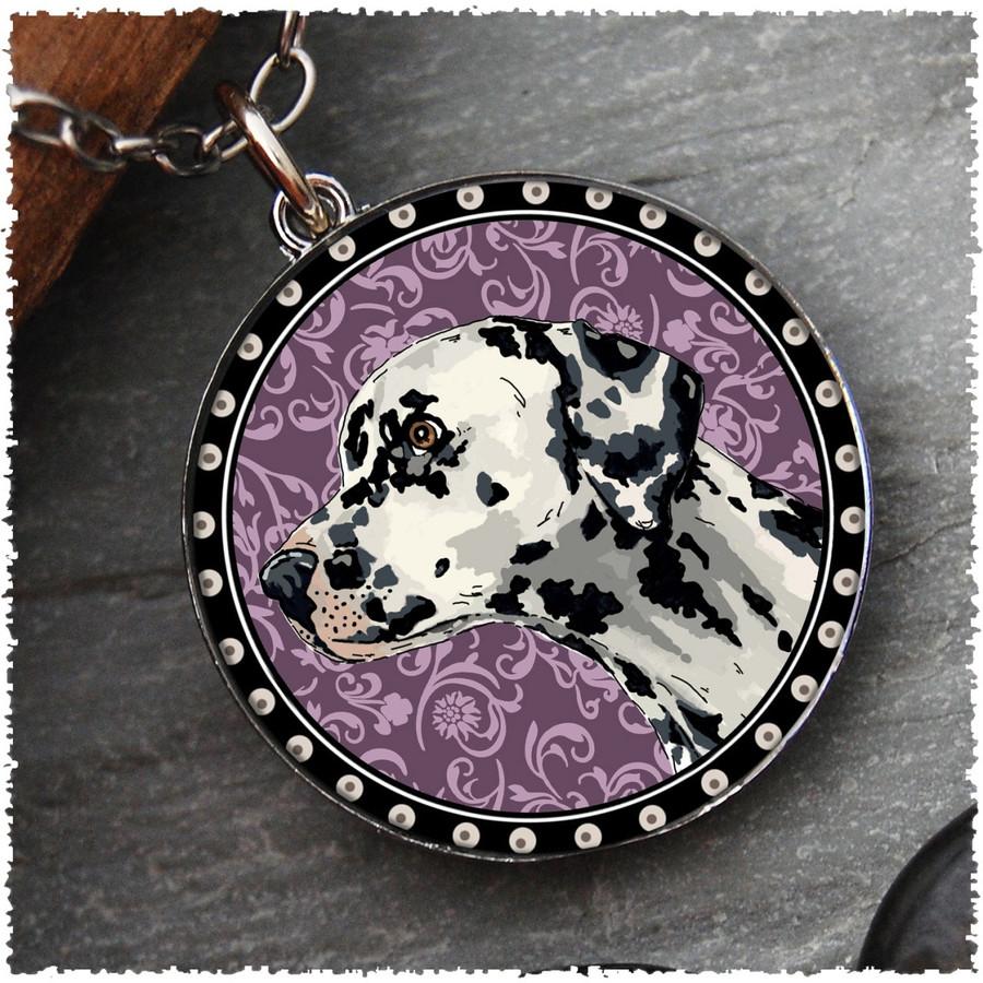 Dalmatian Reversible Circular Pendant