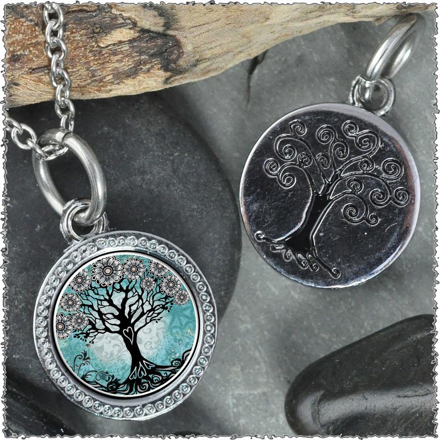 """Tree of Life Teal """"Tree"""" Pendant"""