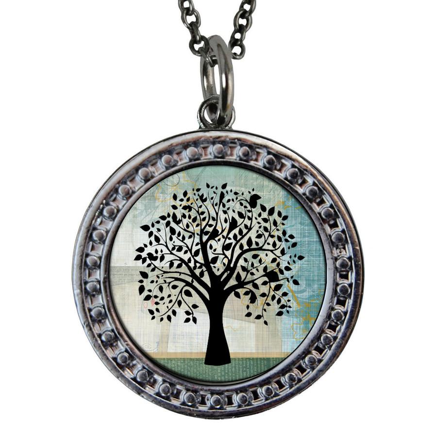"Tree of Life Circular Reversible Vintage ""Leaf"" Pendant"