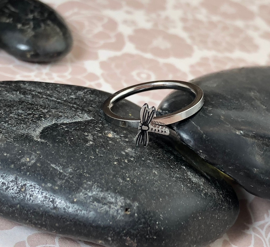 Dragonfly Stacking Art Ring