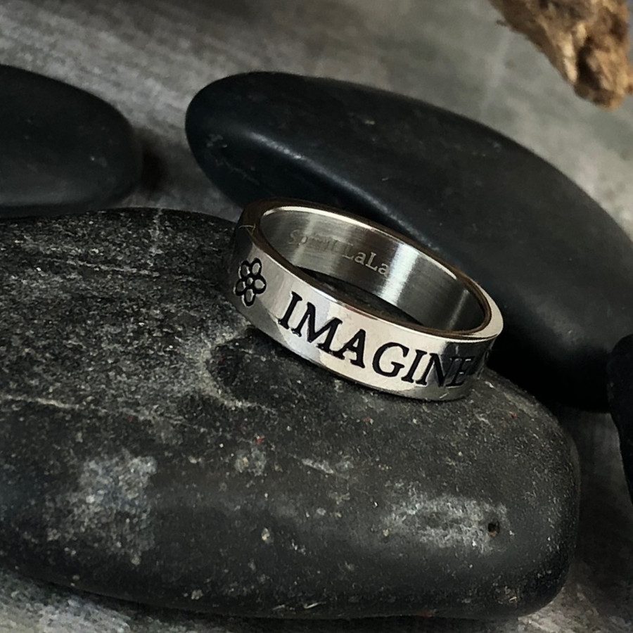 Imagine Stainless Quote Ring