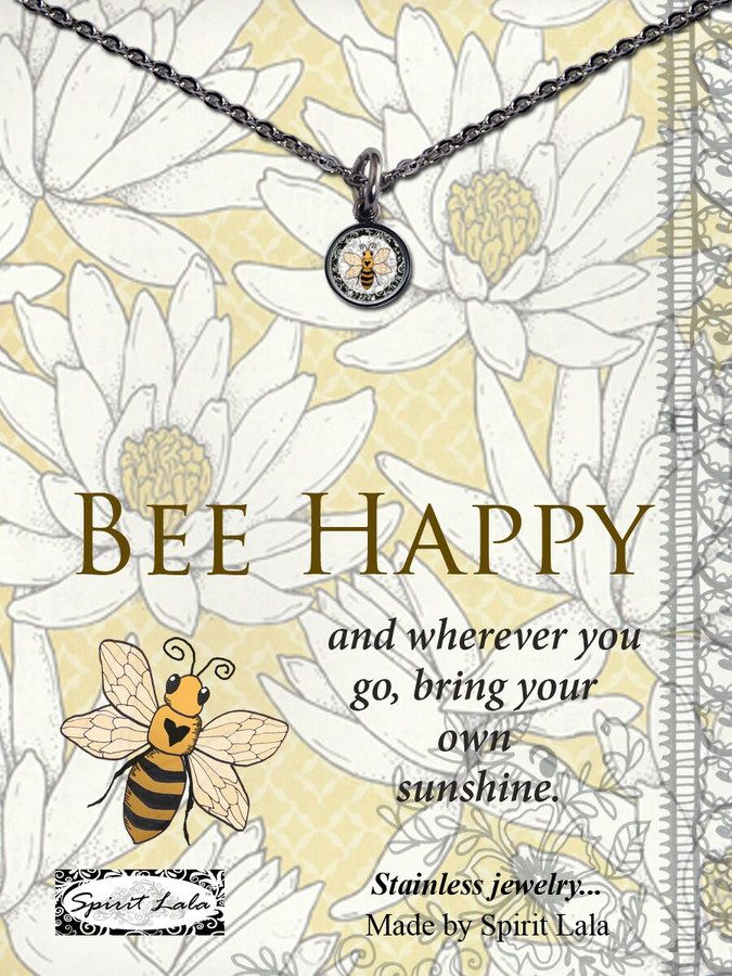 Carded Bee Small Circle Necklace