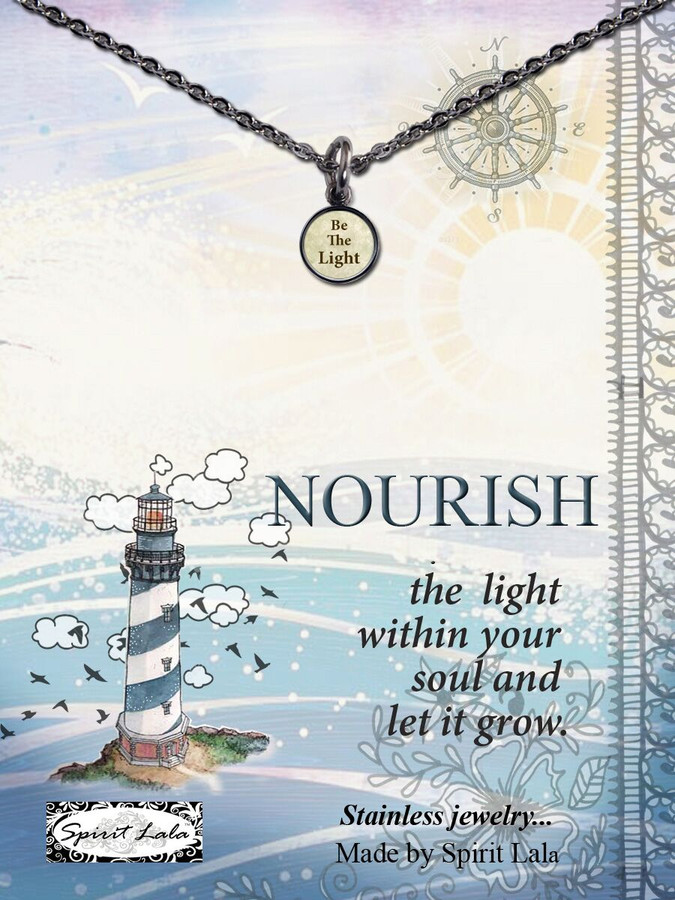 Carded Be The Light Small Circle Necklace
