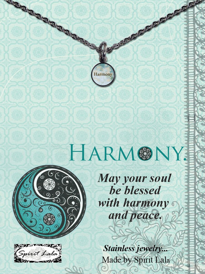 Carded  Harmony Small Circle Necklace
