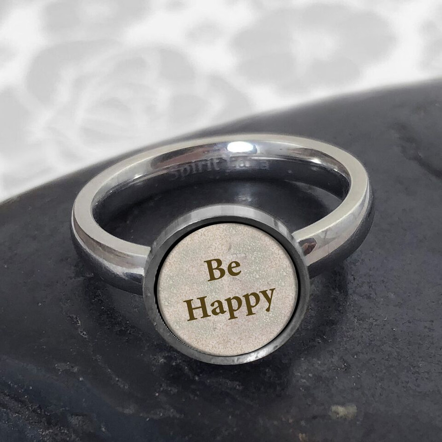 Be Happy Stainless Art Ring