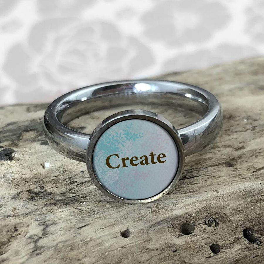 Create Stainless Art Ring