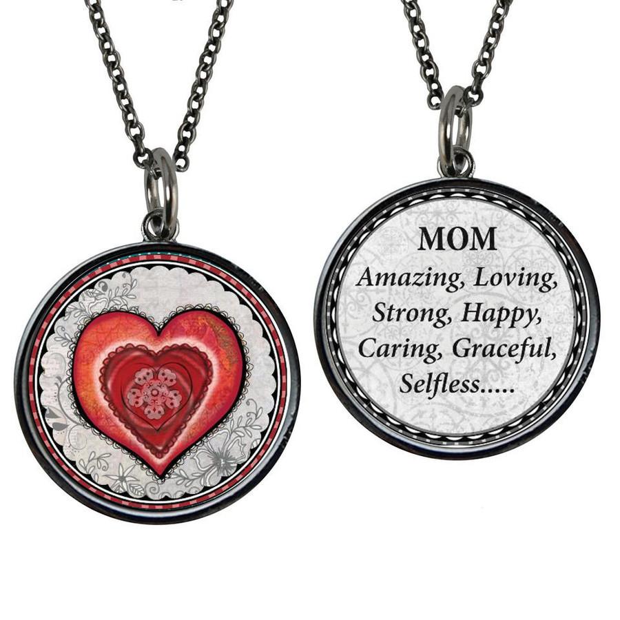 Mom Reversible Circular Pendant