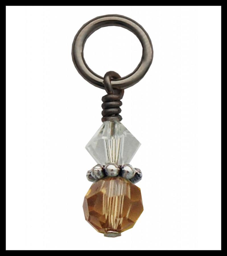 Brown Crystal Charm
