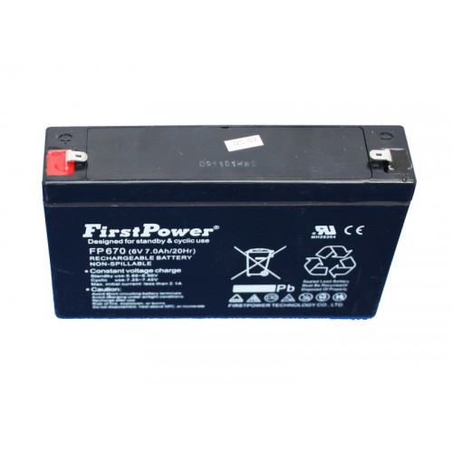6V, 6.7Ah lead acid battery