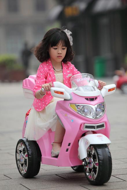Three Wheeled Kids Motorbike - 6V - SX1128 - Pink (SX1128-PINK)