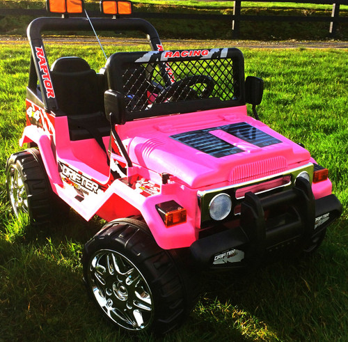 Drifter / Raptor - Powerful 12V 2 Seater 4x4 Ride on Truck Jeep (Pink)