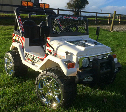 Raptor / Drifter - Powerful 12V 2 Seater 4x4 Ride on Truck Jeep (White)