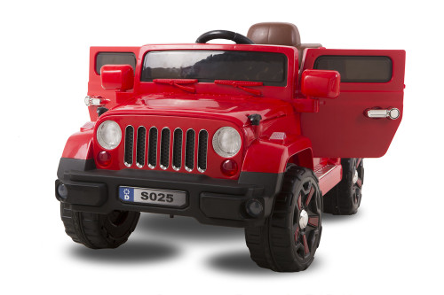 12V Land Rover Safari Type Jeep with Opening Door (S025-RED)