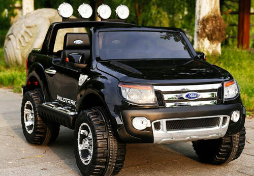 Licensed Ford Ranger Premium Upgraded 12v Kids Electric Jeep - Special Black