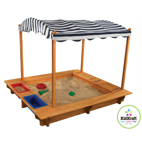Outdoor Sandbox w/Canopy
