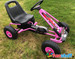 Zoom - Rubber Wheel Go Kart / Cart - Pink & Black - 3-8 Years (A15-PINK)