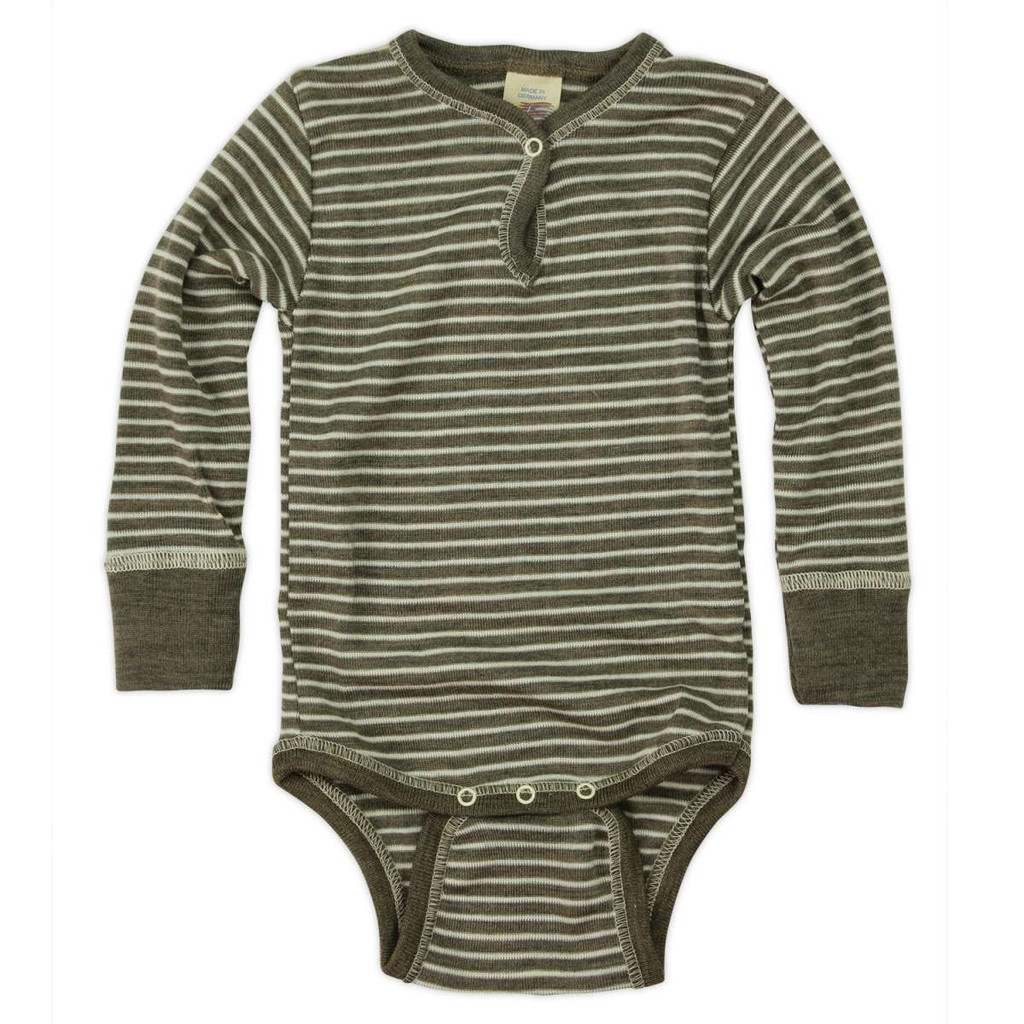 Engel Baby Body Merino Wool/Silk - Walnut/Natural