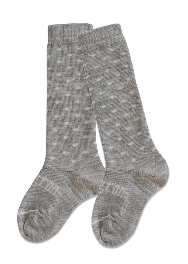 Lamington Knee-High Wool Socks Snowflakes