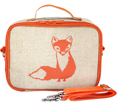 So Young Raw Linen Lunch Box - Fox