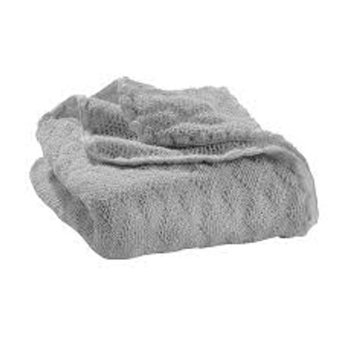 Disana Knitted Organic Merino Wool Baby Blanket - Grey
